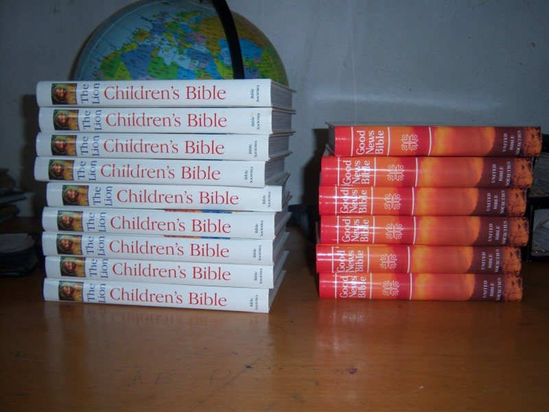 Bibles Bought with Funds from HHP 2